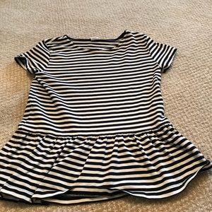 Striped flowy girls striped shirt